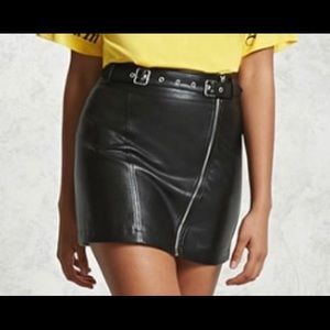 Forever 21 leather skirt